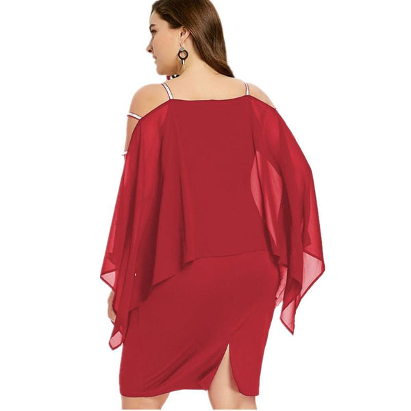 Summer Women's Plus Size Club Off-the Shoulder Sexy Dress
