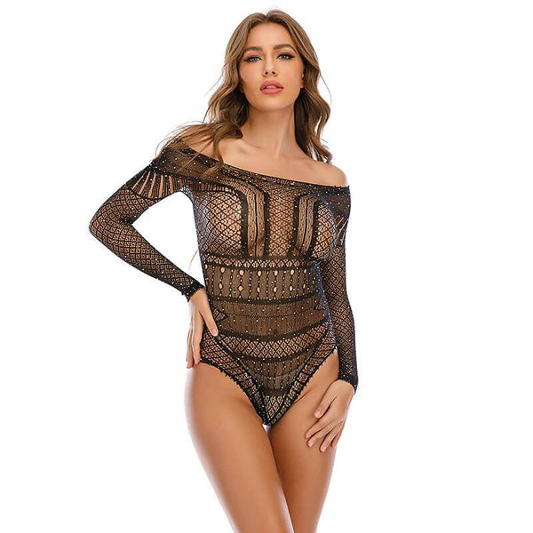 12 Colors See Through Lingerie - Black Color
