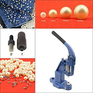 Ivory (Cream) Pearl Rivet Set with Manual Grommet Machine