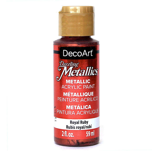 DecoArt Dazzling Metallics - Royal Ruby - 2 oz