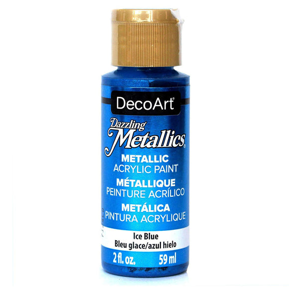 DecoArt Dazzling Metallics - Ice Blue - 2 oz