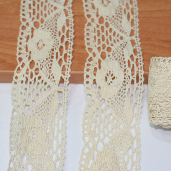 Cotton Crochet Lace Trimming - 5 mt (7581)