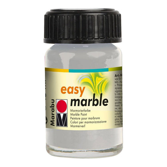 Marabu Easy Marble Paint 0.5 oz Silver