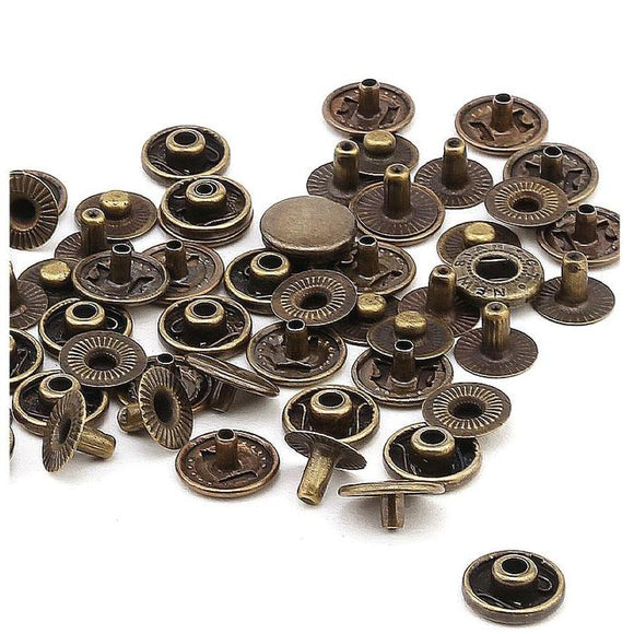 12.5 mm System 54 Round Metal Snap Buttons