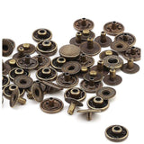 15 mm Alfa System Round Metal Snap Buttons