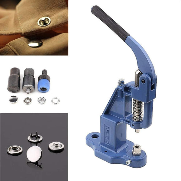 720 sets Capped Snap Button Set with Manual Grommet Machine, DIY Fastener Dies