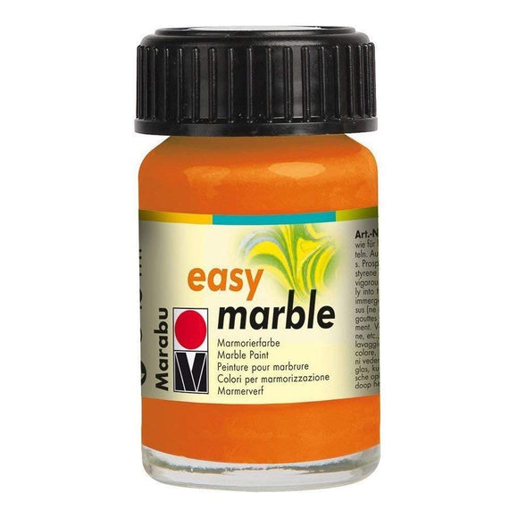Marabu Easy Marble Paint 0.5 oz Orange