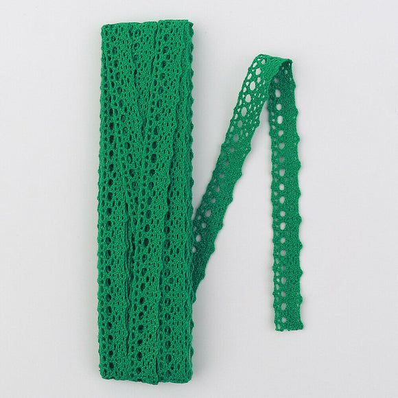 Cotton Crochet Green Lace Trimming -5 mt (34519)