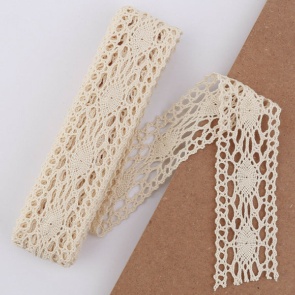 5mt Cotton Crochet Lace Vintage Trimming (421-2)