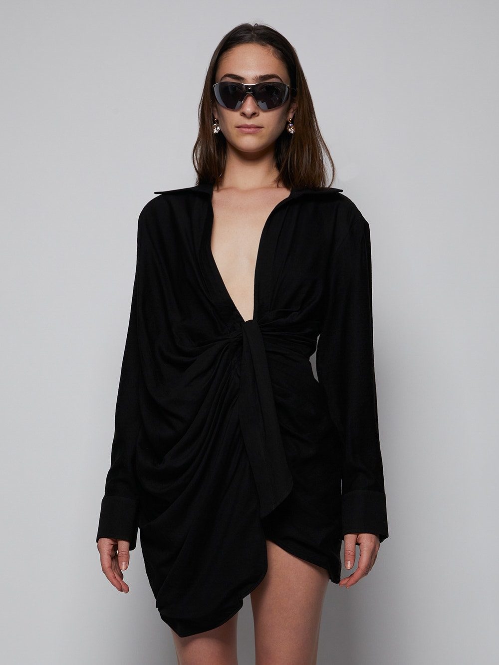 Black La Robe Bahia Mini Dress