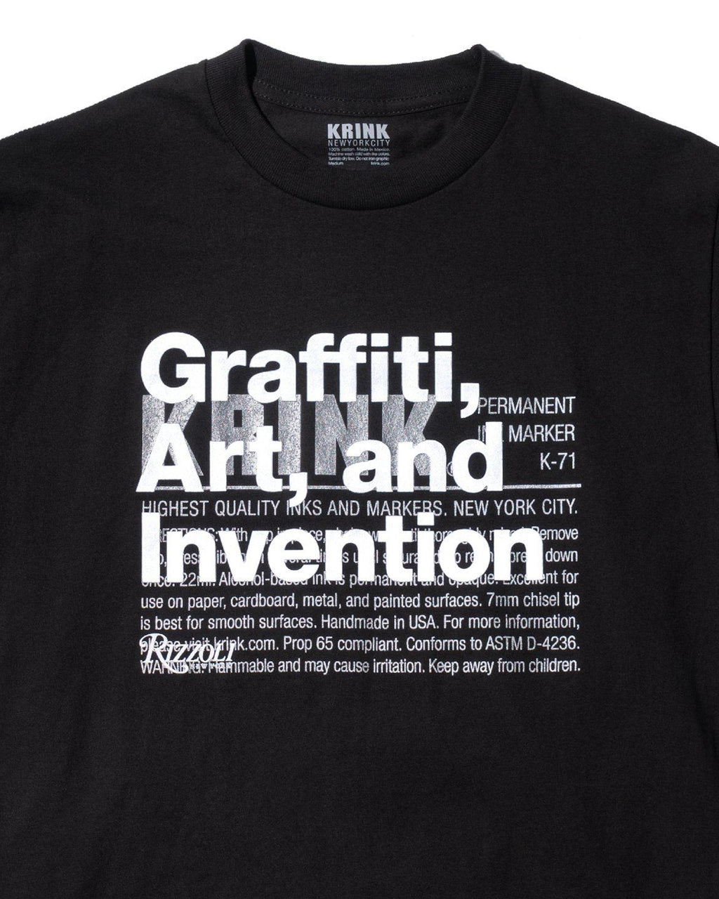 Black Graffiti, Art, and Invention T-Shirt