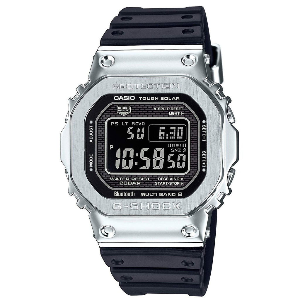 Black & Silver G-Shock Full Metal Steel GMWB5000-1 Watch
