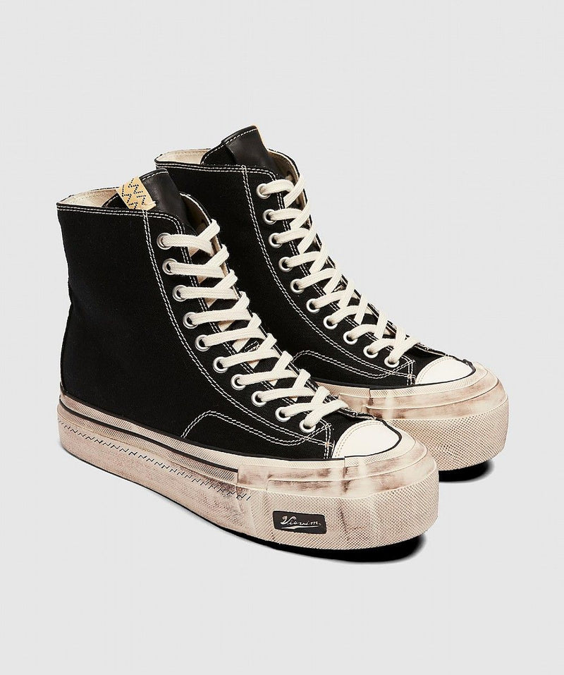 Black & White Skagway Hi Canvas Patten Sneakers