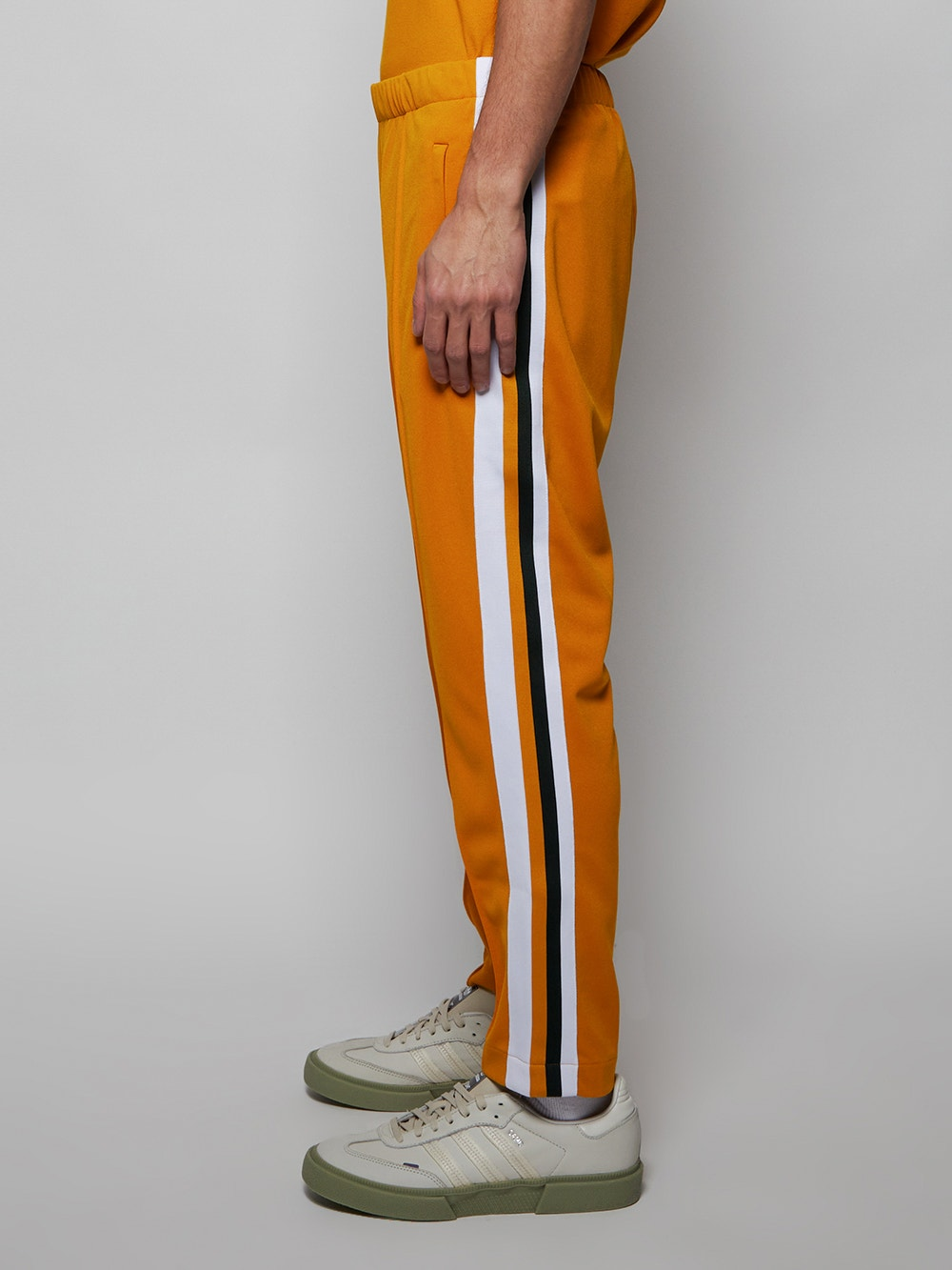Yellow x Ricky Regal Contrast Bands Piqué Pants