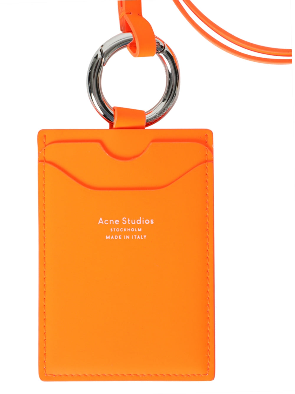 Orange Logo Lanyard Card Holder