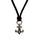 Silver BS Fleur Leather Braided Pendant thumbnail 1