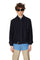 Navy Wool Belted Zipcoat thumbnail 1