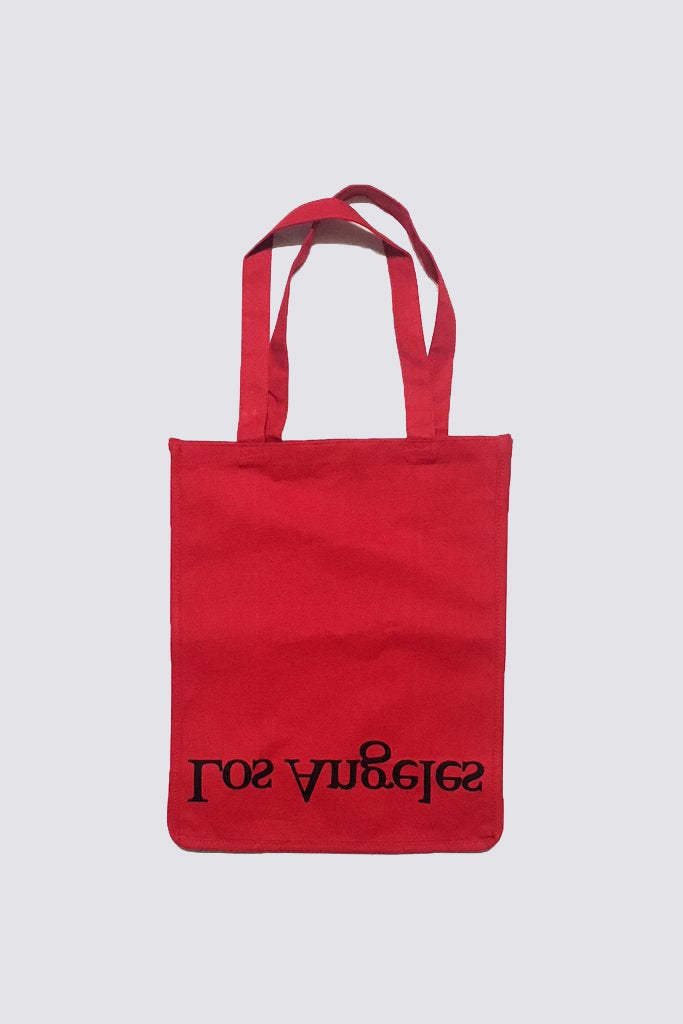 Red Cotton Logo Tote NY/LA