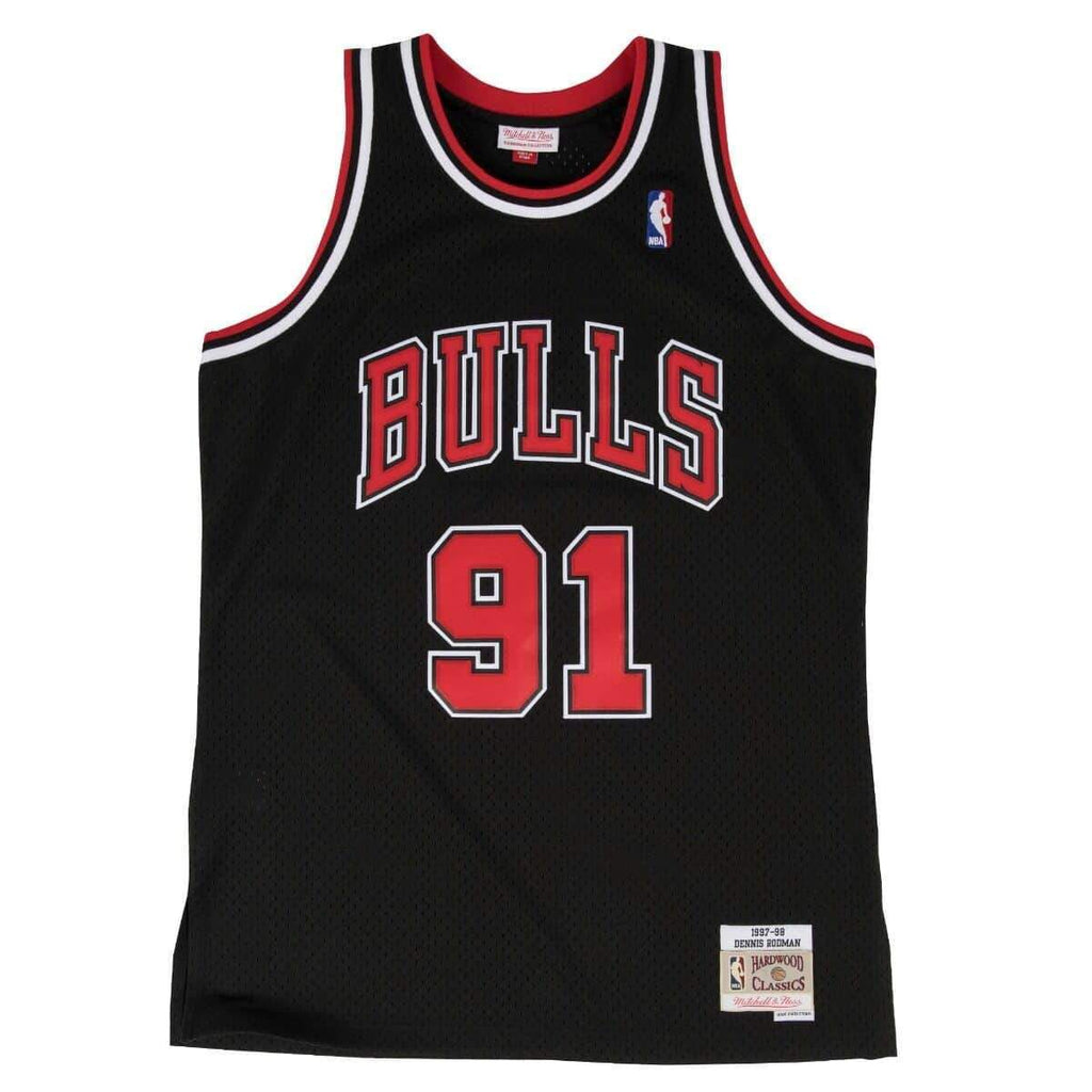 Black NBA Chicago Bulls Swingman Dennis Rodman Jersey