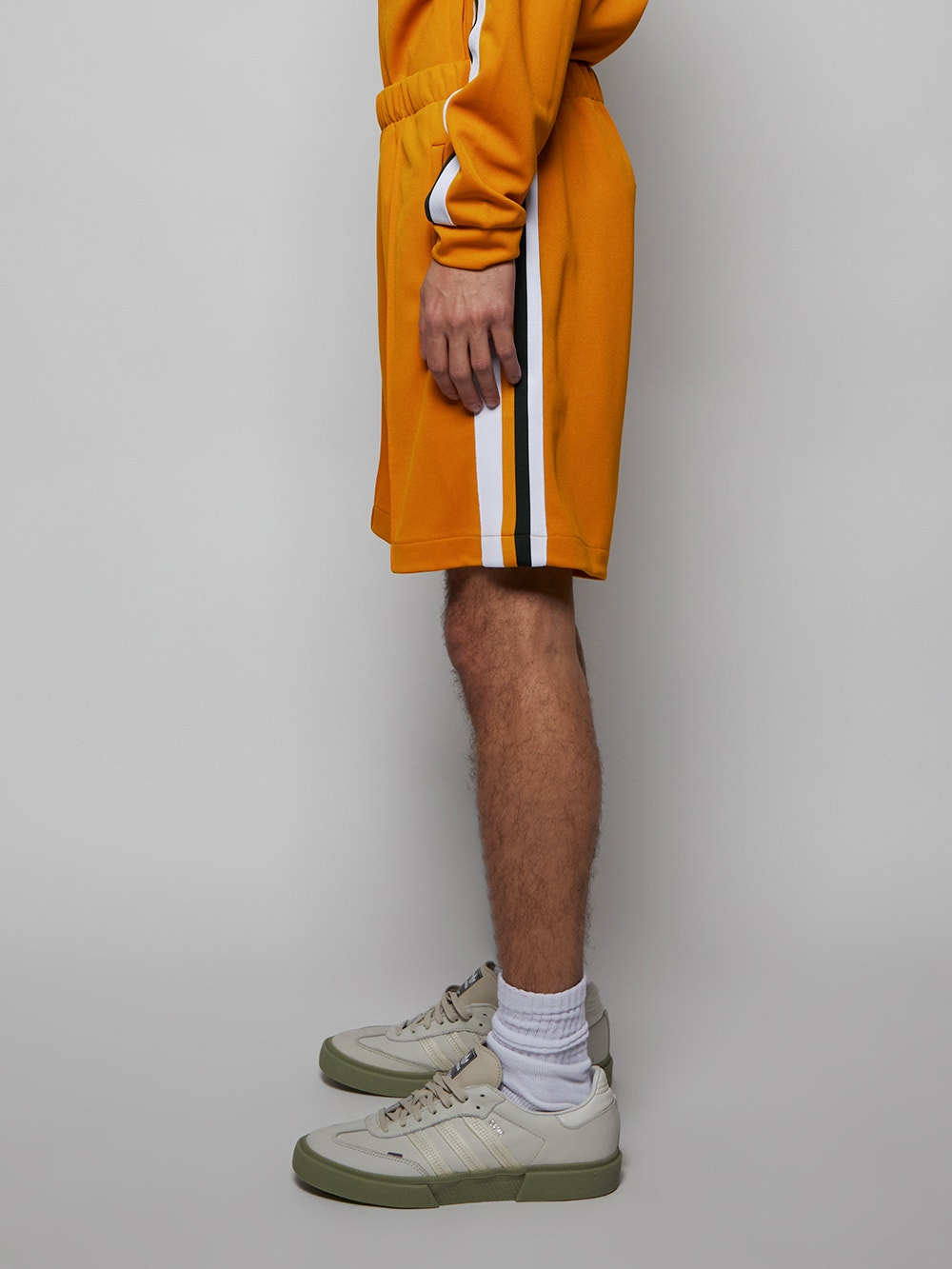 Plum Yellow White x Ricky Regal Contrast Bands Piqué Shorts