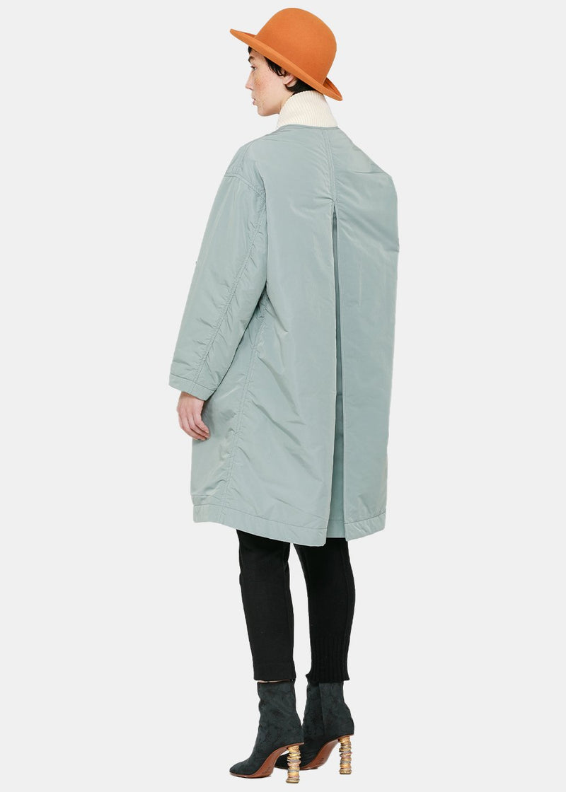 Blue Double-Collar Coat