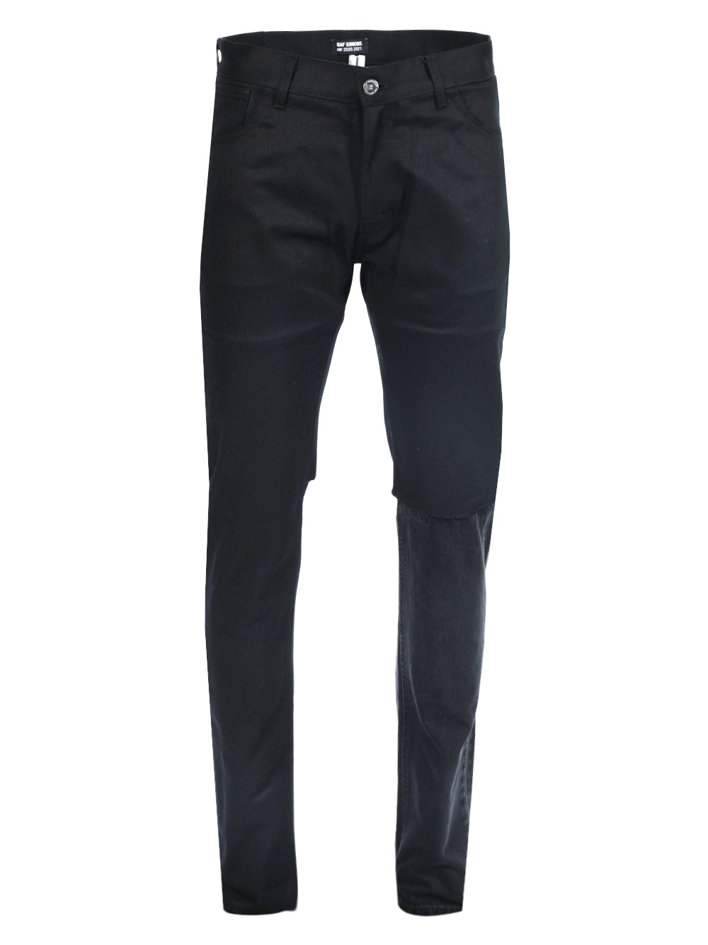 Black Slim Fit Double Destroyed Denim Pants