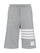 Grey 4-Bar Jersey Sweatshorts thumbnail 1