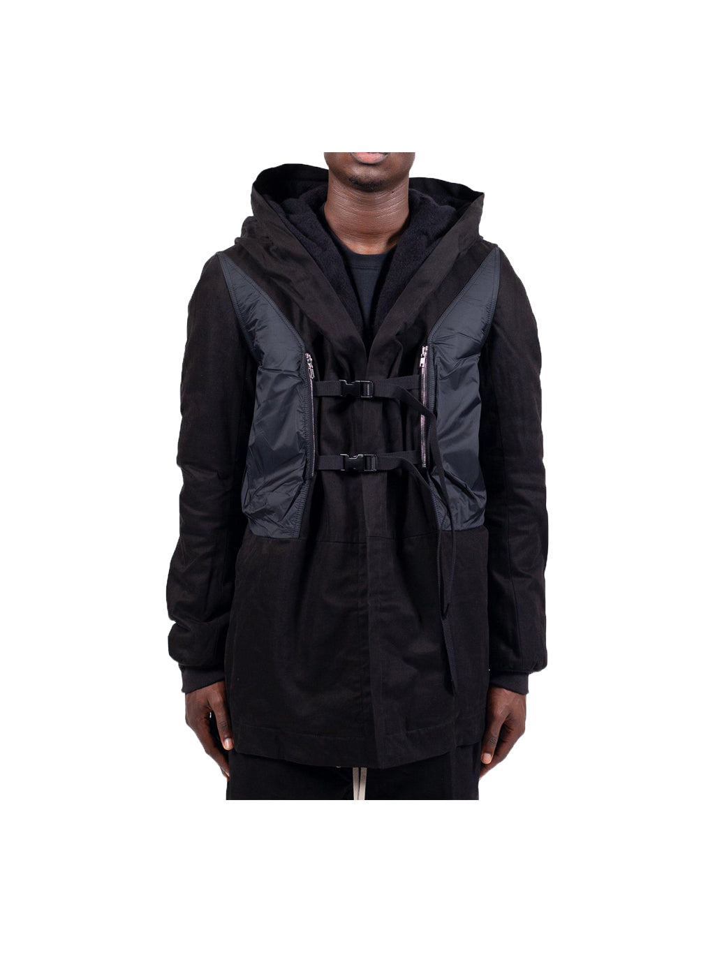 Black Constraint Hooded Jacket
