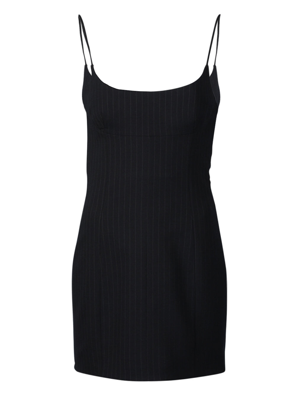 Black Tailored Cami Pinstripe Dress
