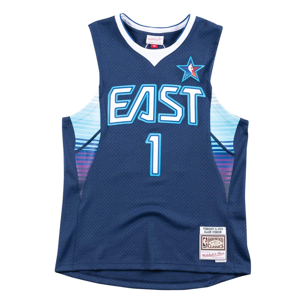 Navy Allen Iverson 09 All-Star East Jersey Tank Top