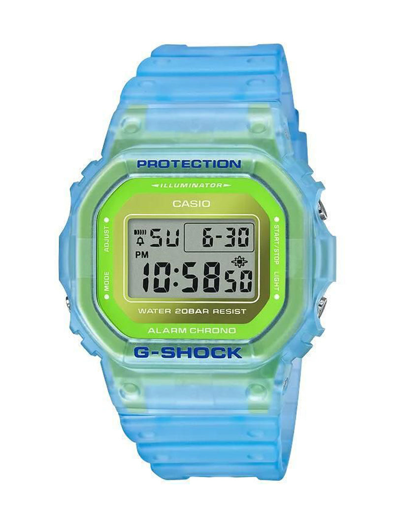 Blue & Green G-Shock Semi-Transparent Watch