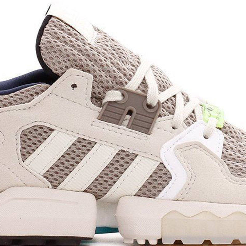 Brown & White ZX Torsion Boost Shoes
