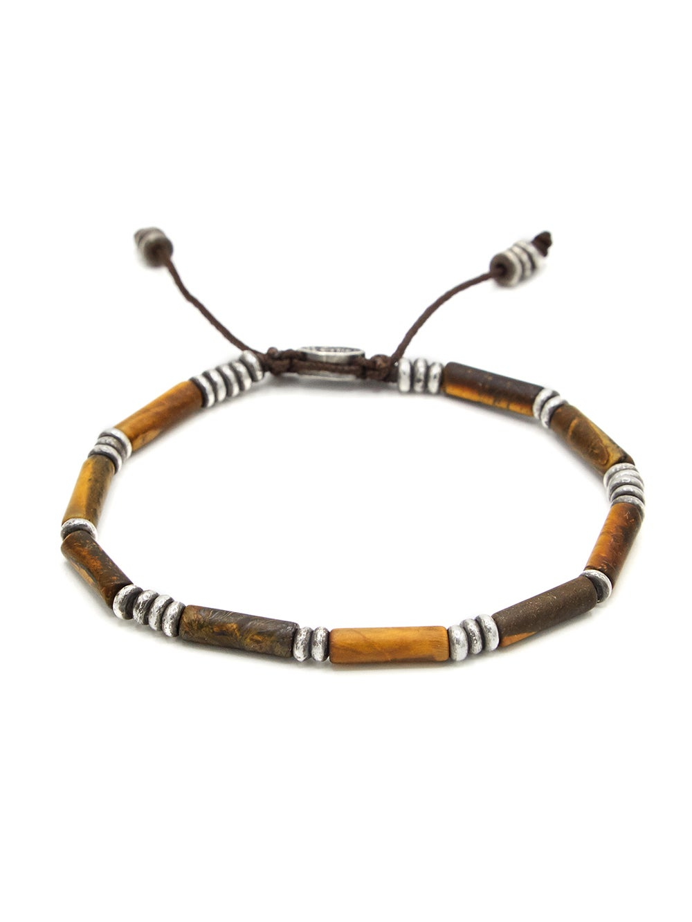 Multi Tiger Eye Tube Bead Bracelet