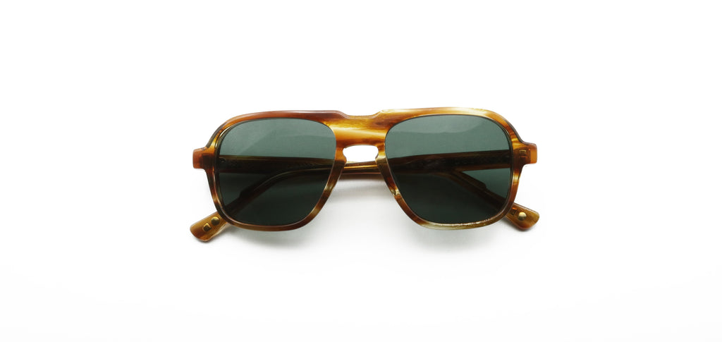 Olive & Yellow Fraser Havana Sunglasses