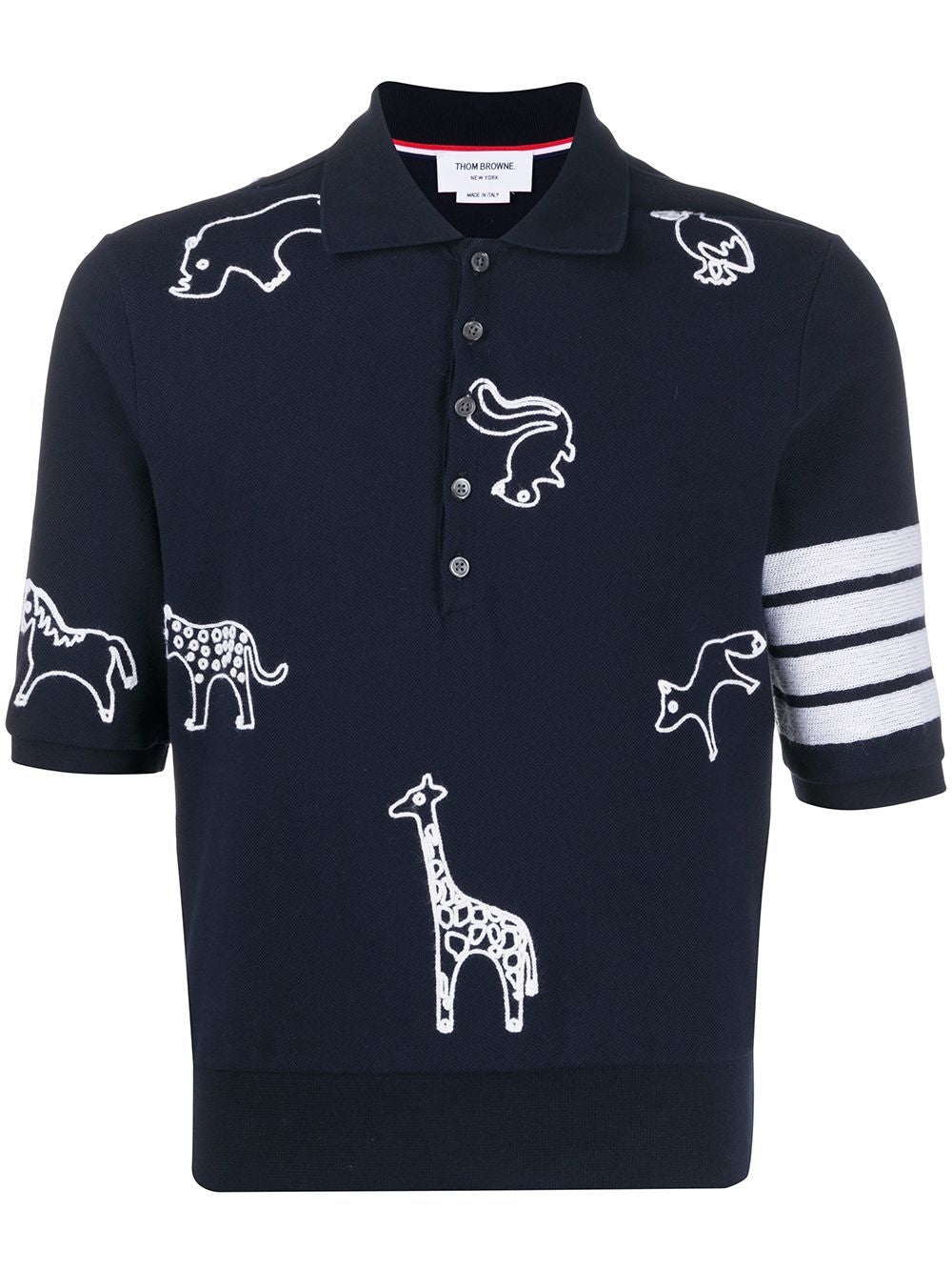 Navy Animal Motif Polo