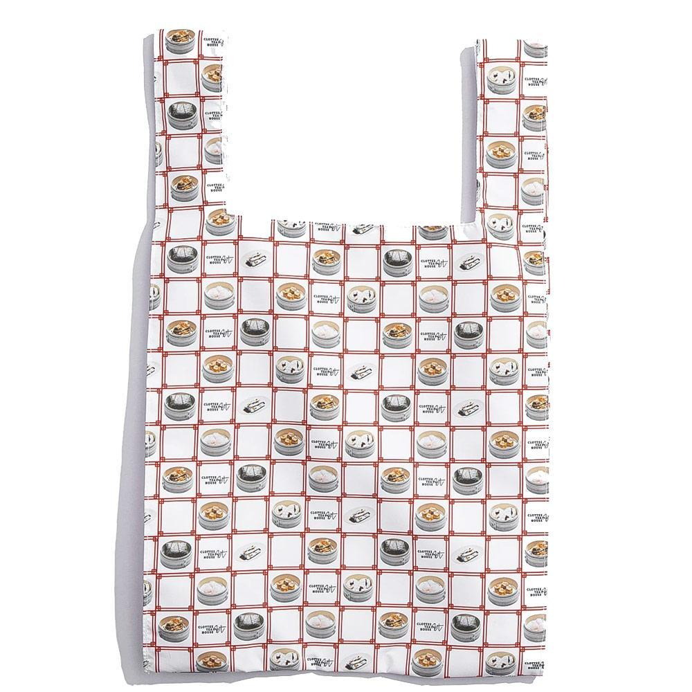 White Printed Tote Bag