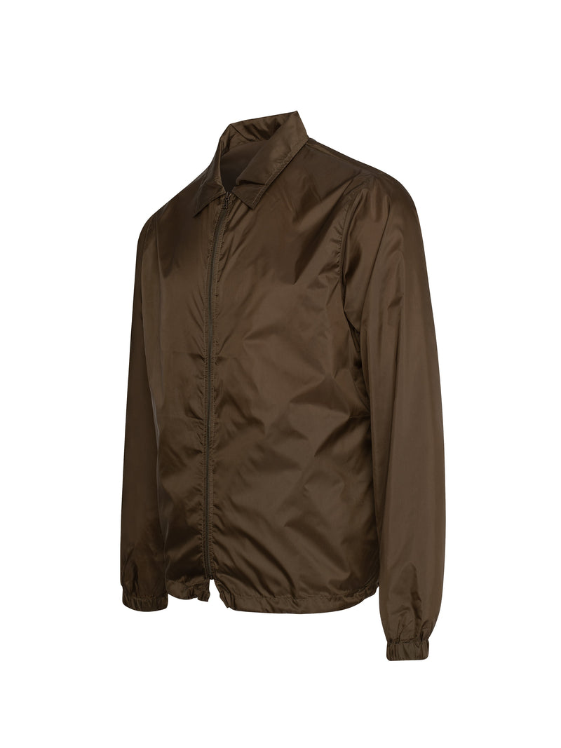 Brown Shane Woven LW Coach Technical Sheer Nylon Jacket