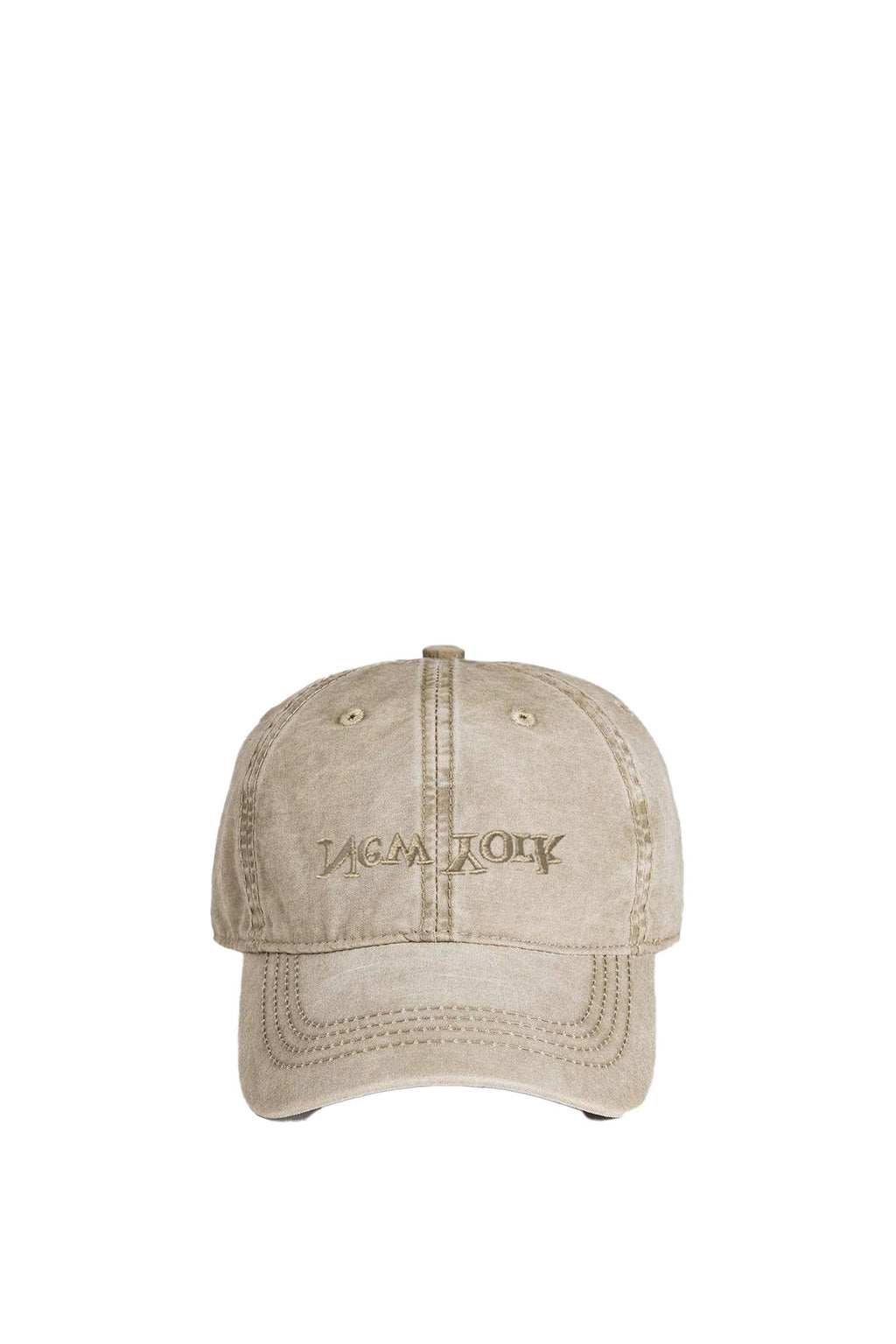 Khaki New York Embroidered Hat