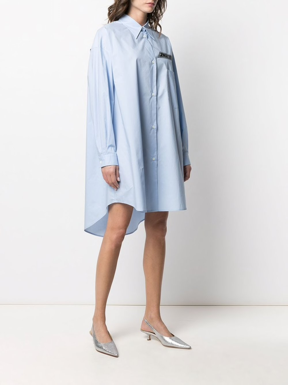 Blue Motocross Logo Shirt Dress