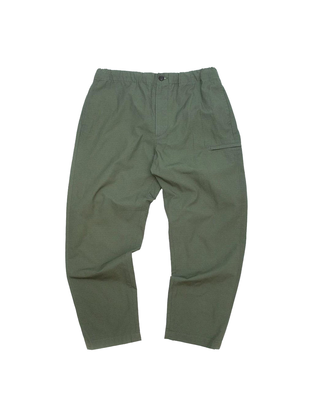 Olive Cotton Ripstop Drawstring Pants