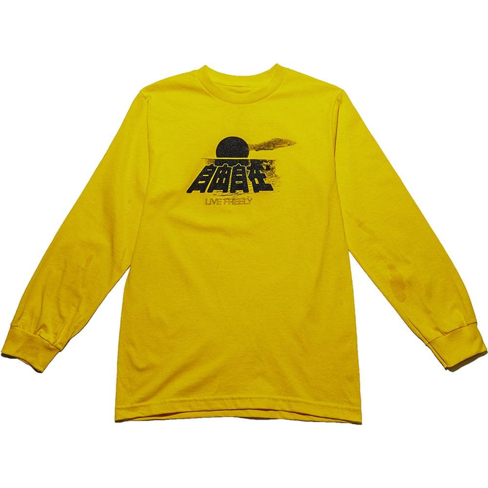 Gold CNY Live Freely Long Sleeve T-Shirt