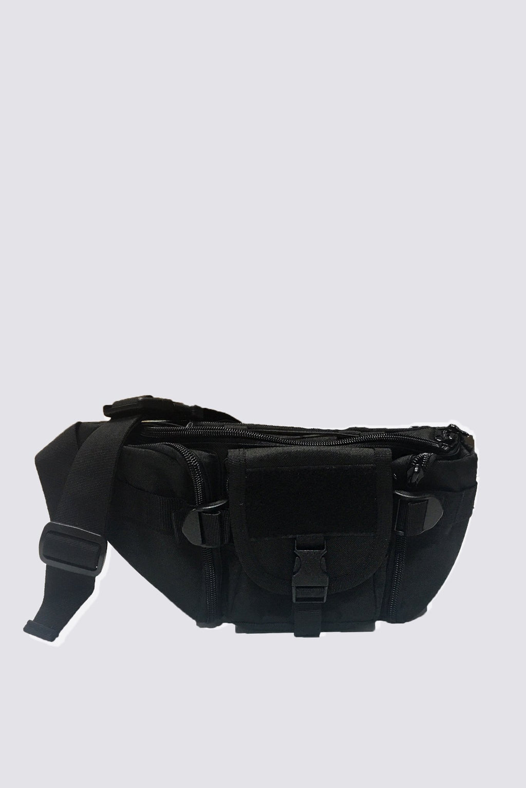 Black Nylon Waist Bag
