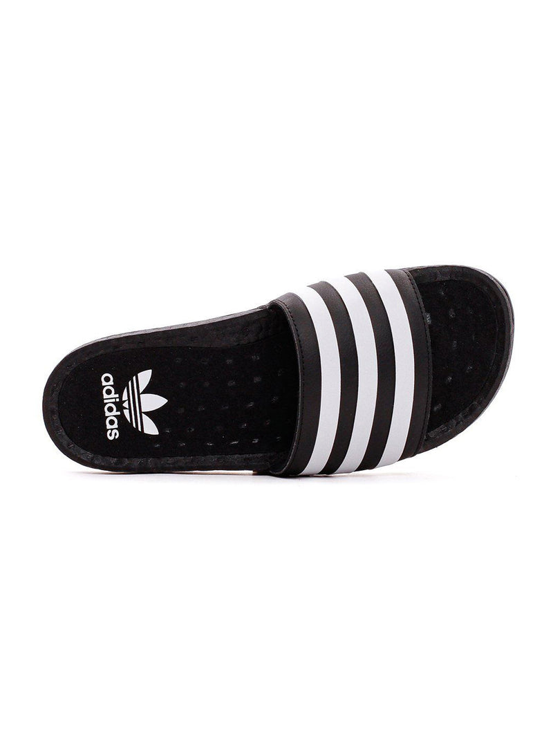 Black & White Adilette Boost Slides