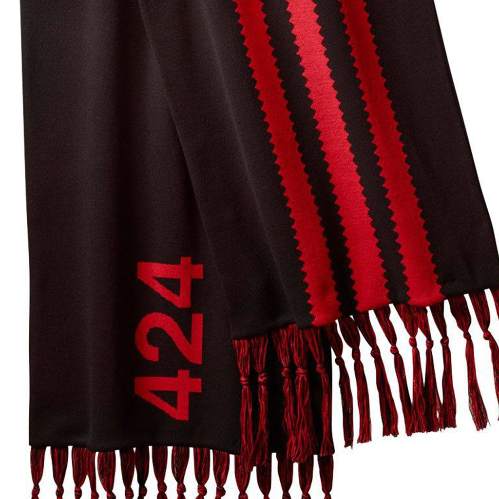 Black & Red Oversized Scarf