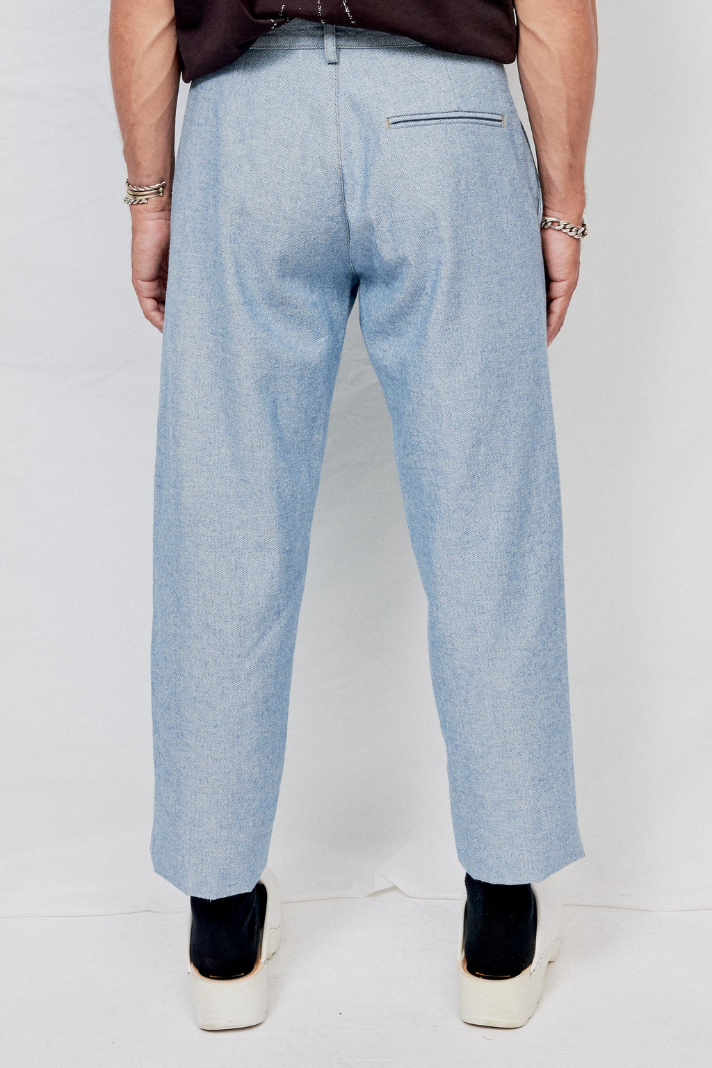 Indigo Denim Crop Pant