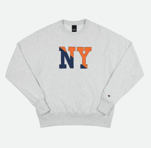 Grey NY Crew Champion RW Crewneck Sweater
