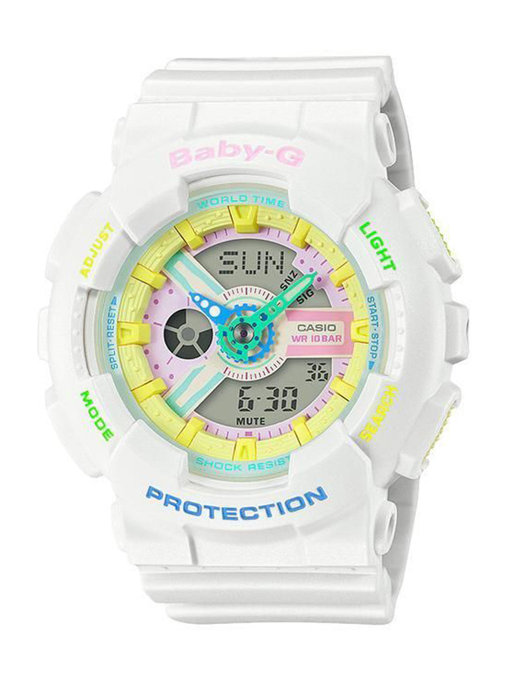 White Baby-G Harajuku Day And Night Watch