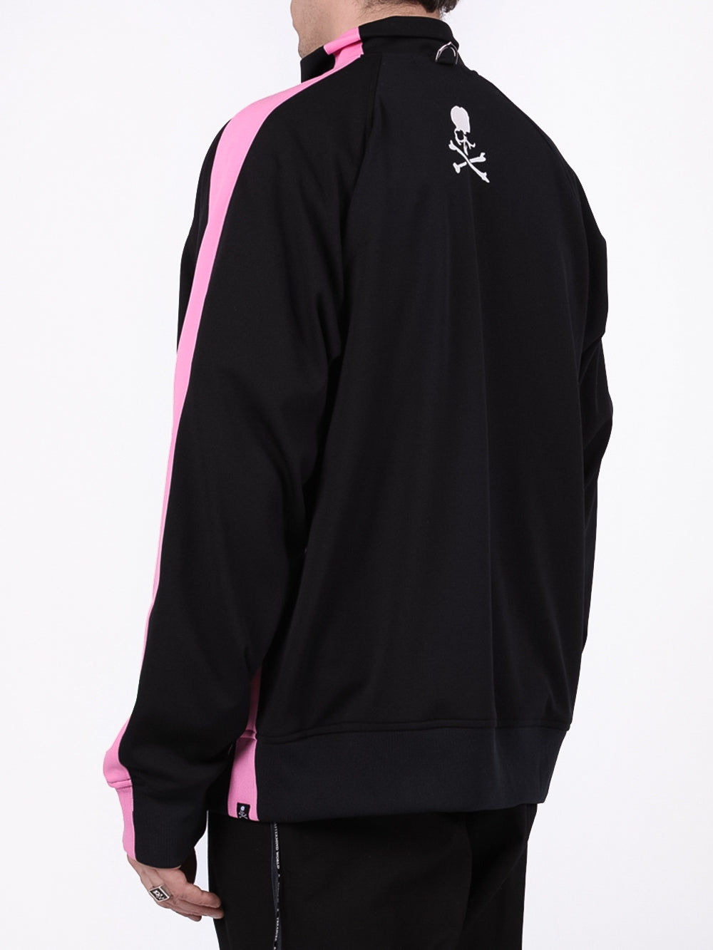 Black & Pink Striped Track Jacket