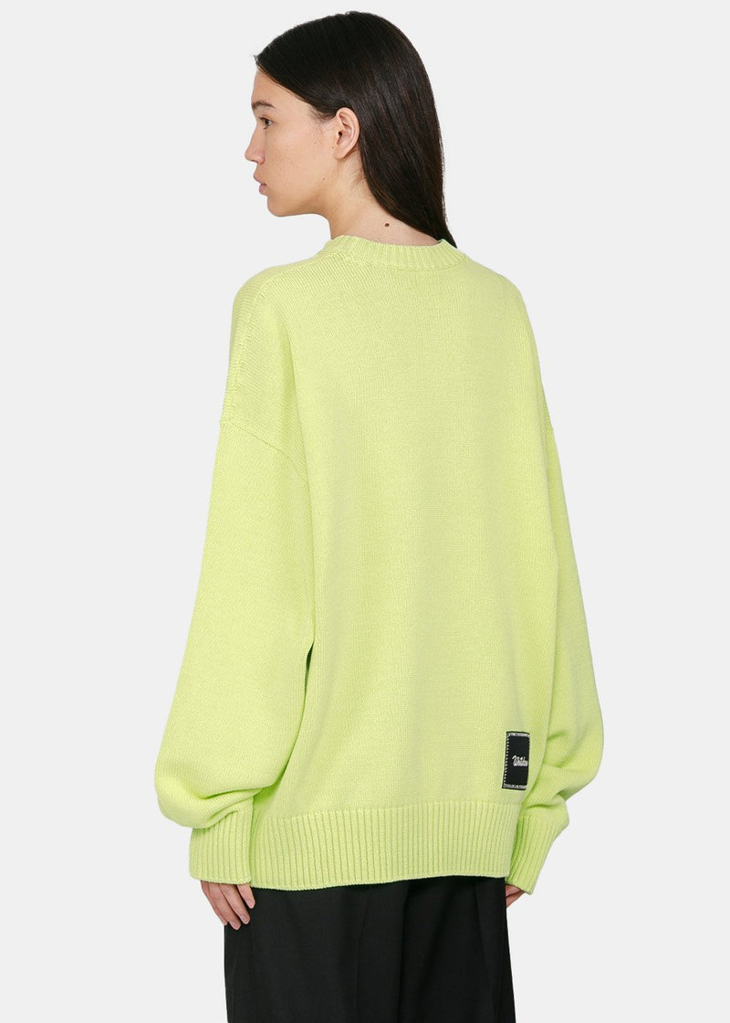 Lime Print Knit Sweater