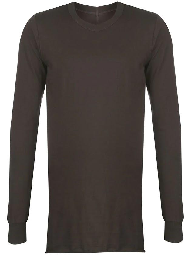 Brown Basic Long Sleeve T-Shirt